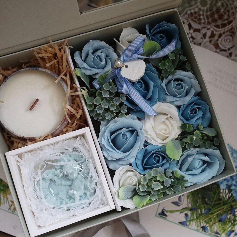 【蕾安柏】香氛禮盒│香皂花 手工皂 香氛蠟燭│交換禮物│婚禮