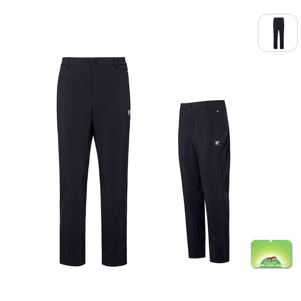 【FILA】男性 超潑水性 平織長褲-黑色 1PNT-5107-BK