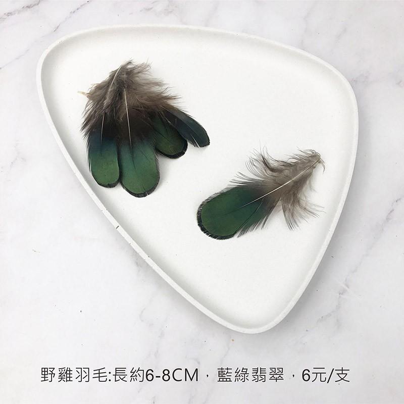 手札羽毛 天然野雞羽毛-花束羽毛裝飾 婚禮布置 拍照道具 - 藍綠翡翠,1支