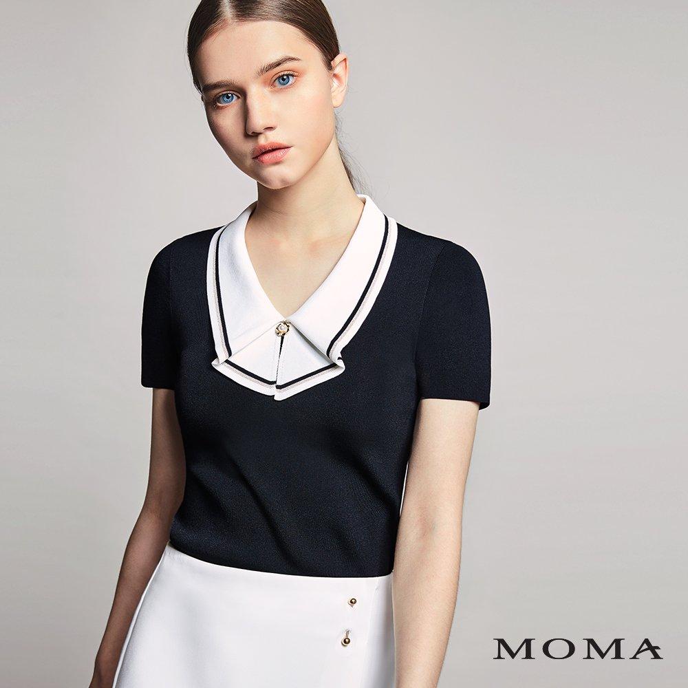 MOMA(01KM27)水手領針織上衣