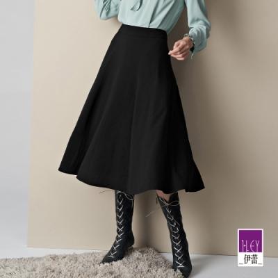 ILEY伊蕾 百搭素面質感多片裙(黑)