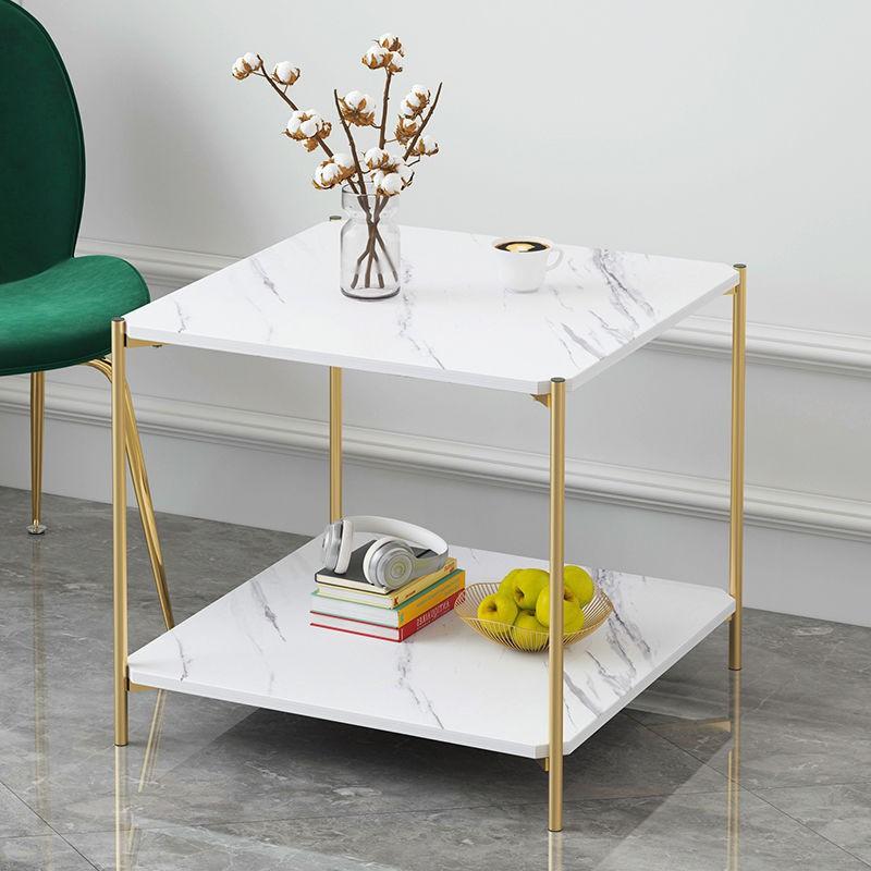 【熱銷】北歐茶幾簡約邊幾小戶型簡易客廳角幾雙層沙發邊柜小圓桌子床頭桌IKEA