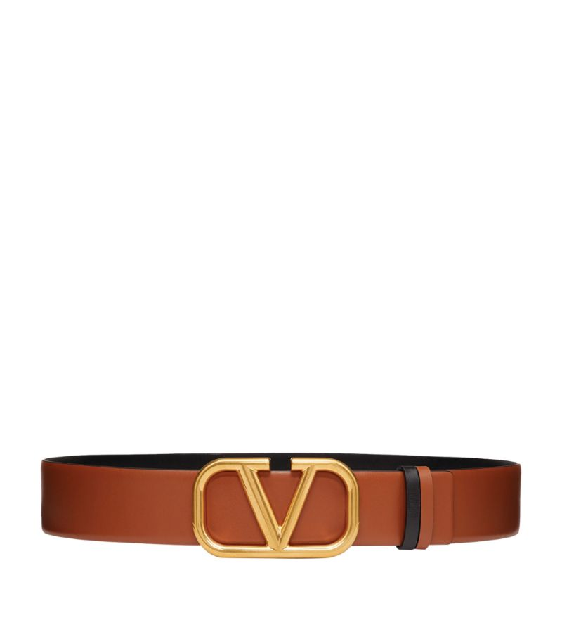 Valentino Valentino Garavani Vlogo Leather Belt