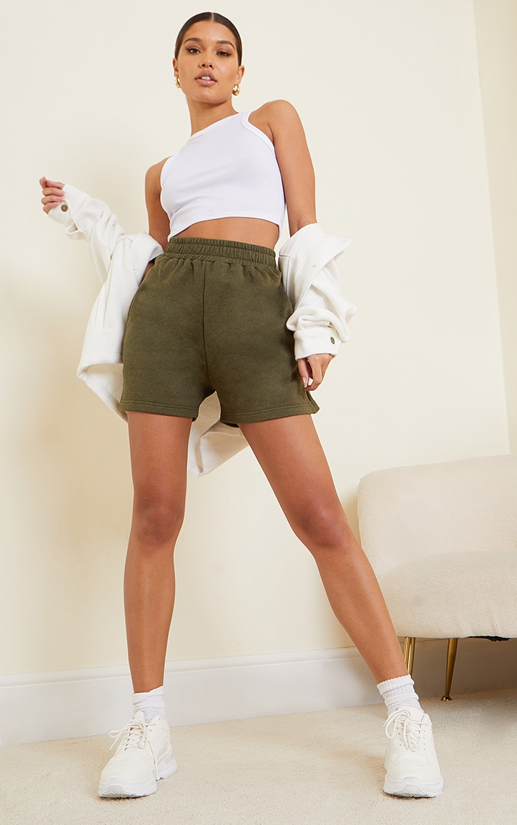 Khaki Sweat Pocket Shorts