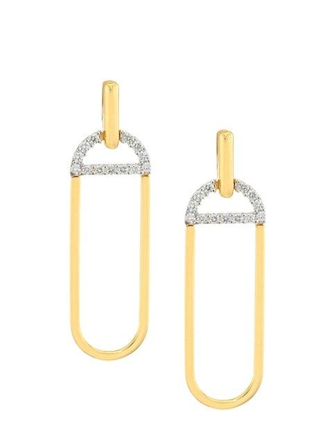 Via Brera 18K Yellow Gold & Diamond Drop Earrings