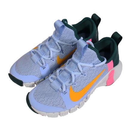 NIKE 女 WMNS NIKE FREE METCON 3 襪套慢跑鞋 淺藍彩 - CJ6314564