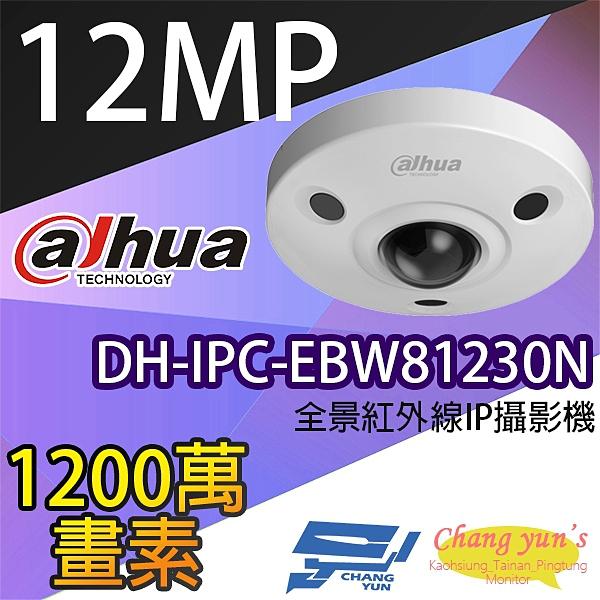 高雄/台南/屏東監視器 大華 DH-IPC-EBW81230N 1200萬畫素 IPcam 全景網路攝影機