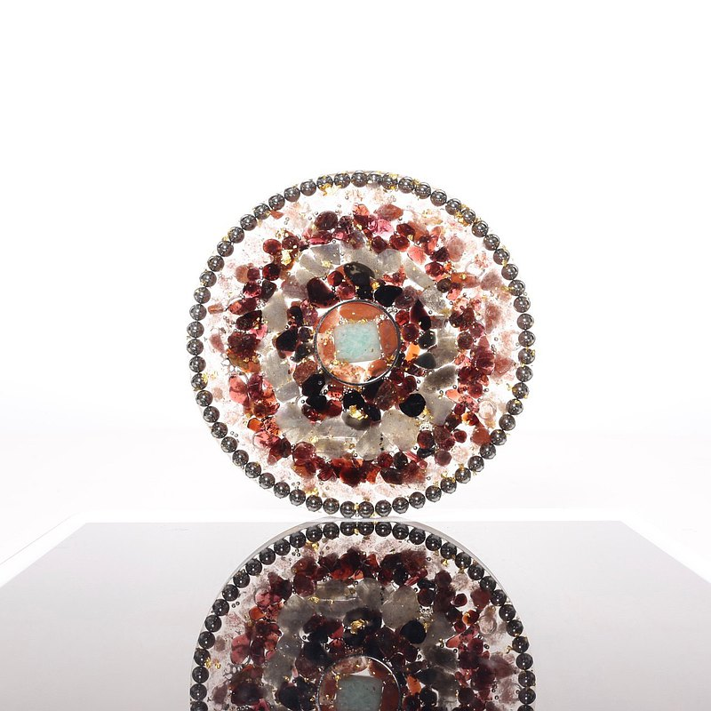 【M31】空靜之輪-奧剛圓盤/杯墊Orgonite水晶礦石金屬提升愛情運,