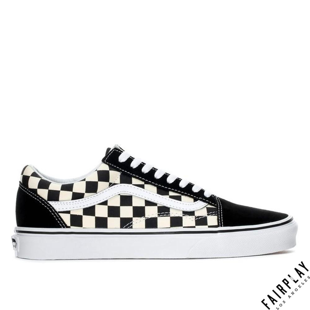 Vans Old Skool Primary 黑白 男鞋 女鞋 低筒 格紋 棋盤格 基本款 經典款 滑板鞋 情侶鞋