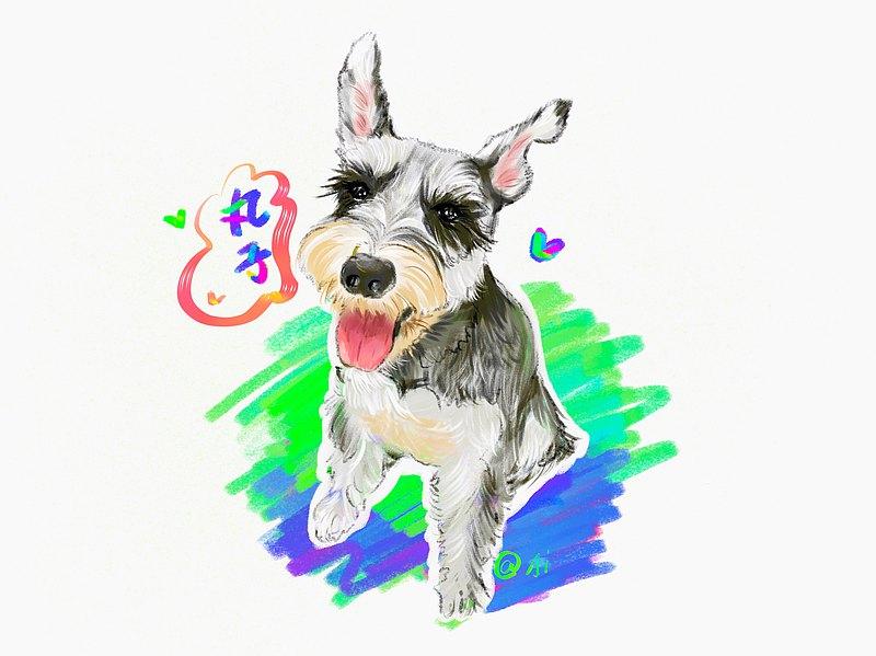 畫照片 似顏繪 寵物繪畫客製 電子檔可愛插畫人像畫像 頭像 客製【客製化】