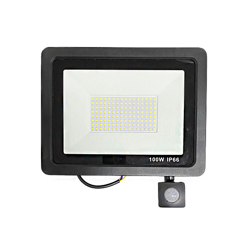 100W超薄感應燈 人體感應投光燈 紅外線感應 庭院燈 花園燈 太陽能燈 戶外照明