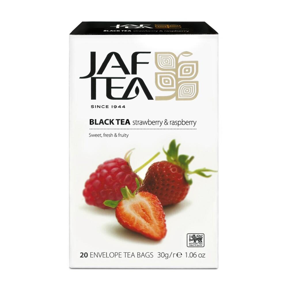 jaf tea 斯里蘭卡原裝進口水果茶 20茶包/盒 (草莓覆盆子) 錫蘭紅茶
