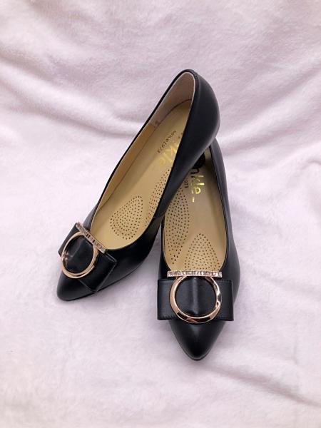 ~節奏皮件~流行女鞋~~上班鞋款 淑女鞋款 編號 04741 (黑色)