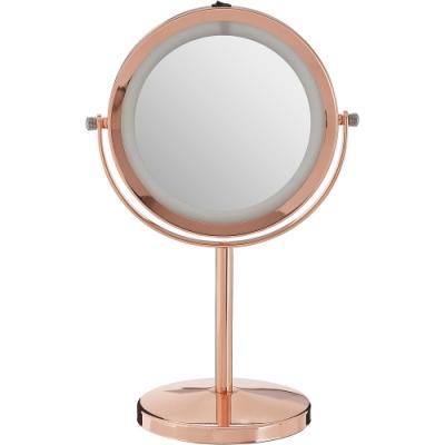 《Premier》Clara雙面環燈桌鏡(玫瑰金)