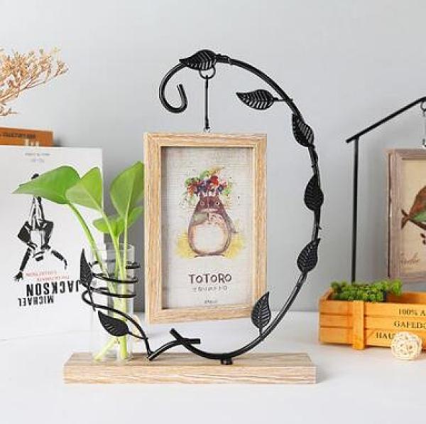 創意相框 創意相框擺臺個性照片框木質六6寸可愛ins現代輕奢小擺件簡約【快速出貨八折搶購】