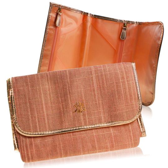 Sisley 希思黎 粉紅鑲金邊化妝包(21X7X14cm)