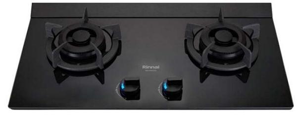 (全省原廠安裝)林內檯面瓦斯爐 RB-M2710G(B) 極炎二口爐( 大本體+LED藍光旋鈕 )