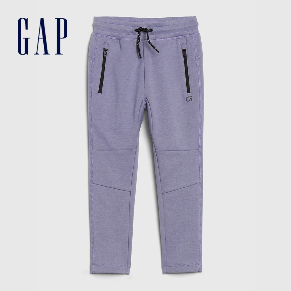 Gap 男幼童 棉質舒適鬆緊休閒褲 488948-淡紫色