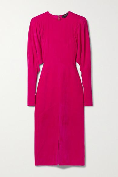Isabel Marant - Venia 灯芯绒中长连衣裙 - 紫红色 - FR40
