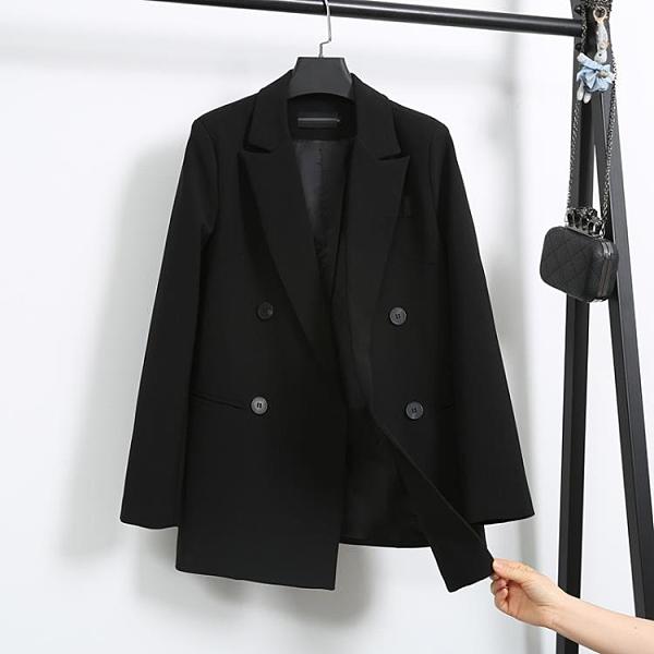 西裝外套 網紅小西裝外套女2020春秋新款寬鬆氣質韓版休閒英倫風西服外套女 伊蒂斯 交換禮物