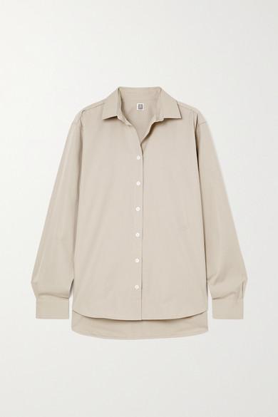 Totême - Signature 纯棉府绸衬衫 - 蘑菇色 - FR42