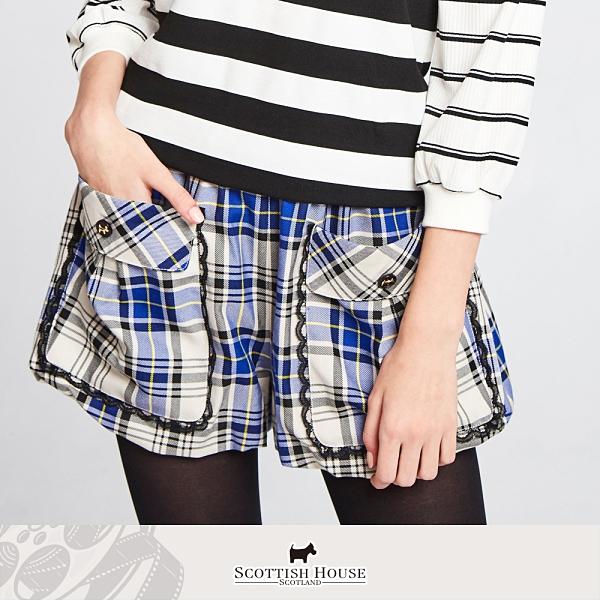 正格口袋鬆緊腰頭燈籠短褲 Scottish House 【AM2202】