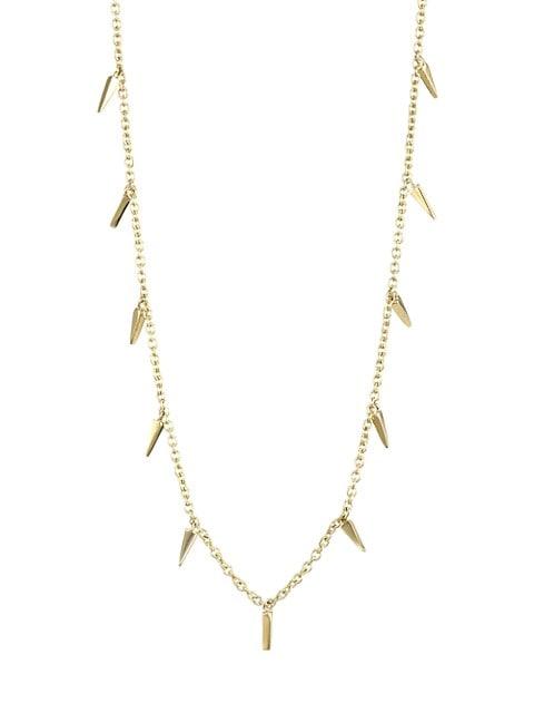 14K Gold Small Fringe Necklace