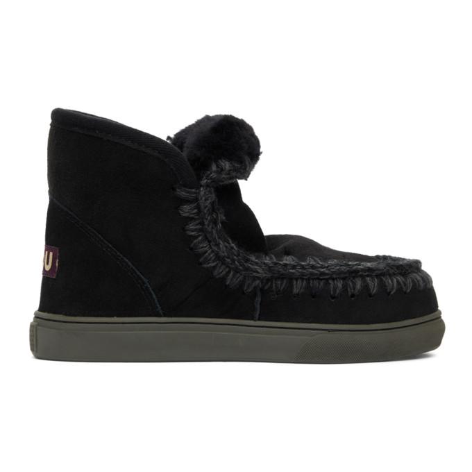 Mou 黑色 Sneaker 踝靴