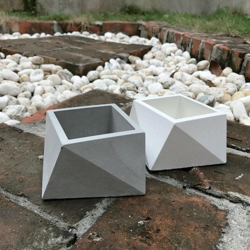 (beagle)方多面型-創意水泥花盆 多肉水泥花器/仙人掌水泥花盆/水泥植栽/水泥盆器