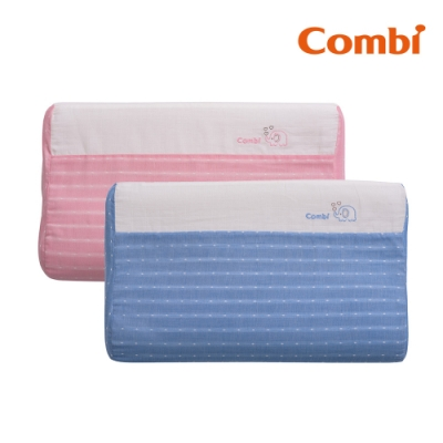 限時滿額送玩樂券【Combi】和風紗透氣兒童枕