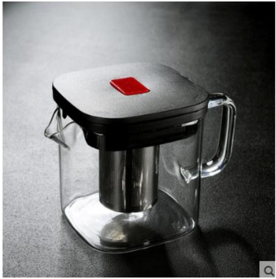 家用大小號方形玻璃煮茶壺內膽過濾花茶煮茶泡茶壺茶杯套裝 多款新穎玻璃煮茶壺