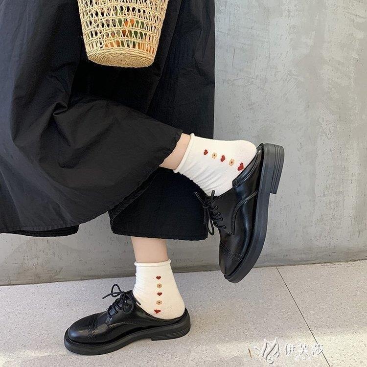 2020春秋新款單鞋女網紅百搭女鞋韓版復古牛津鞋英倫兩穿小皮