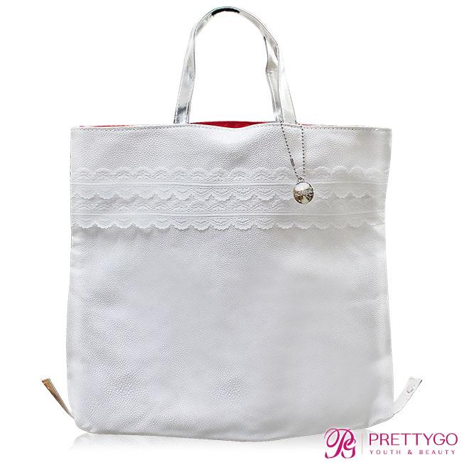 SOFINA 蘇菲娜 典雅蕾絲2 WAY提包(33X29X4cm)【美麗購】