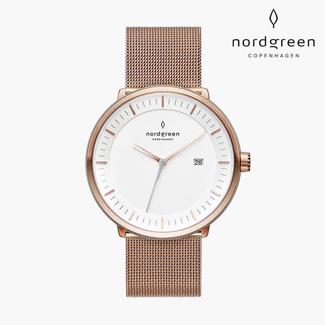 【Nordgreen】Philosopher 哲學家 玫瑰金系列 玫瑰金 鈦鋼米蘭錶帶手錶 36mm