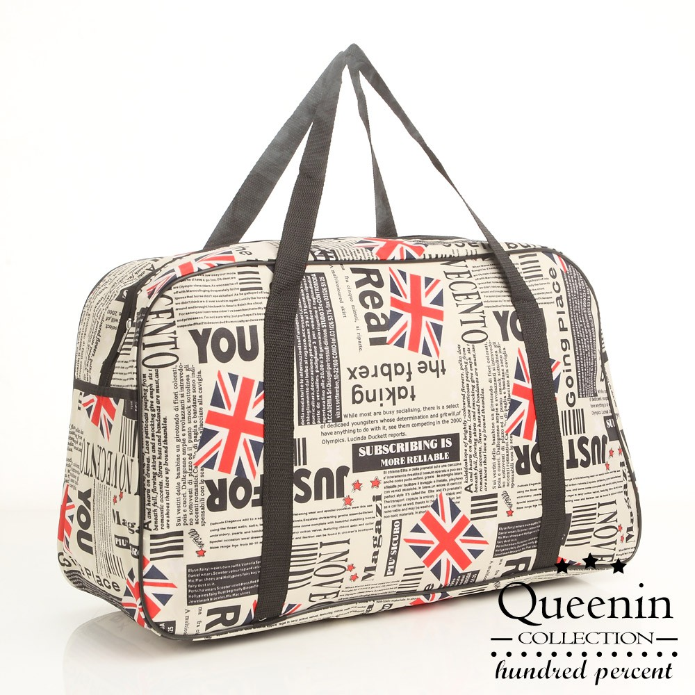 DF 旅遊必備大容量輕量可掛行李桿旅行袋購物袋-共8款花色
