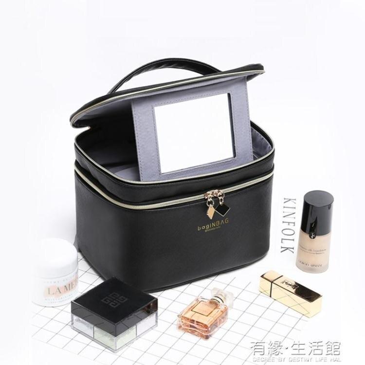 化妝包女便攜箱可愛日系韓國大容量旅行洗漱包ins風超火收納袋盒  聖誕節狂歡購