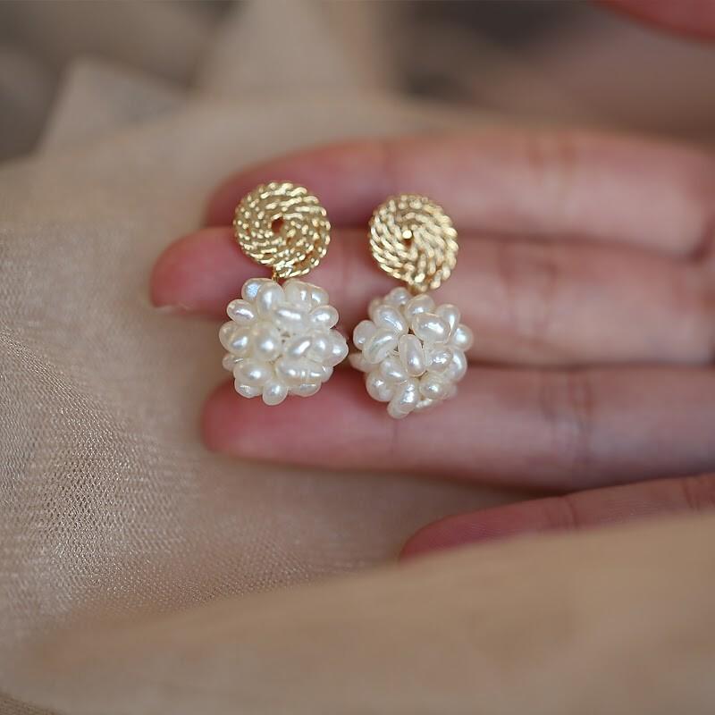 輕珠寶-變形珠耳環