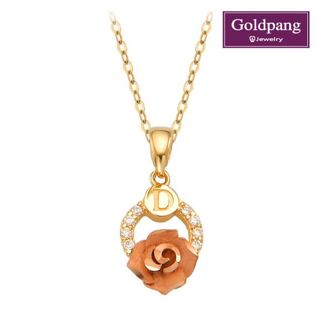 [gold pang]18kGold玫瑰項鍊