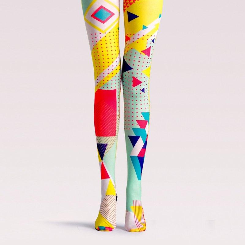 viken plan 設計師品牌 連褲襪 棉襪 創意絲襪 圖案絲襪 波普失真