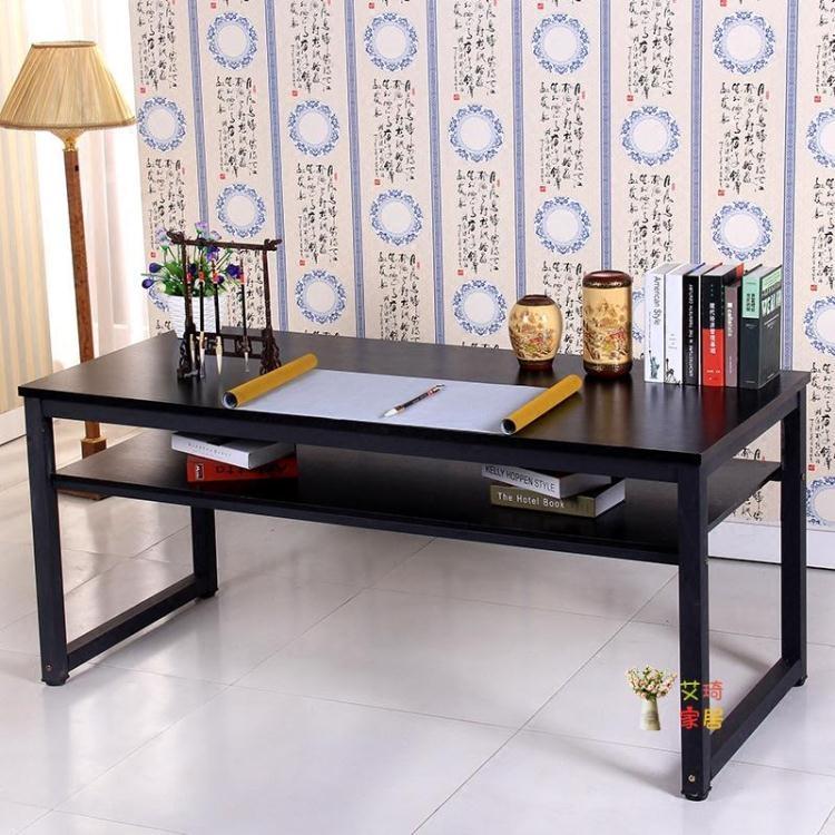書法桌 書畫桌書法桌畫案畫台電腦桌雙層書桌長桌練字桌子員工培訓課桌T 8號時光