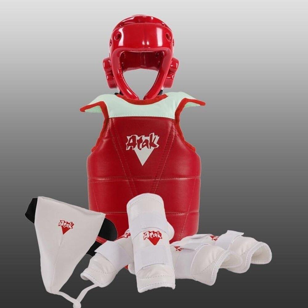 跆拳道成人兒童加厚全套五件套比賽型跆拳道-快速出貨