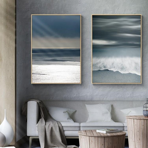 簡約現代玄關裝飾畫過道風景建築掛畫樣板房極簡風壁畫43*63