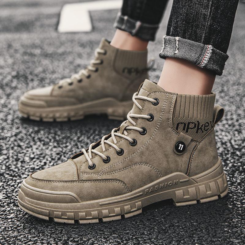【馬丁靴】男鞋秋冬季馬丁靴男高幫工裝靴英倫風軍靴加絨保暖棉鞋雪地靴皮靴 HxYd