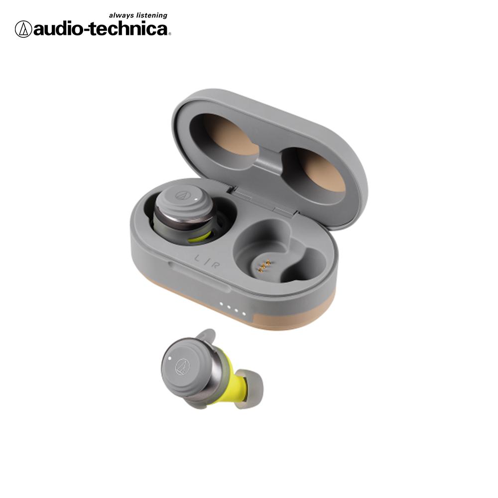 鐵三角 ATH-SPORT5TW 真無線運動耳機 灰黃色