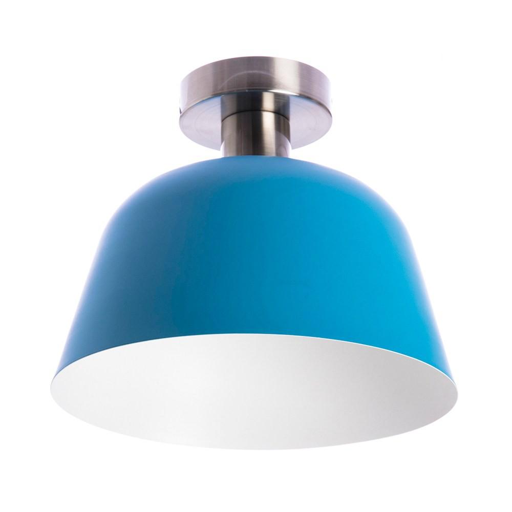 組 - 特力屋萊特 霧銀吸頂壁燈藍金屬燈罩