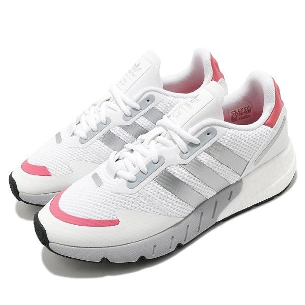 adidas 休閒鞋 ZX 1K Boost W 白 銀 女鞋 舒適 網布 透氣 運動鞋 【ACS】 FY5654
