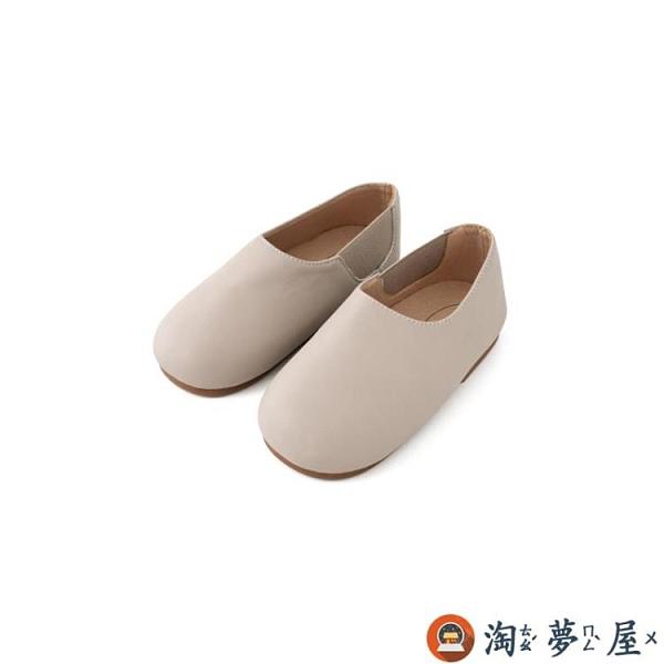 女童皮鞋寶寶單鞋軟底百搭兒童平底鞋皮秋冬【淘夢屋】