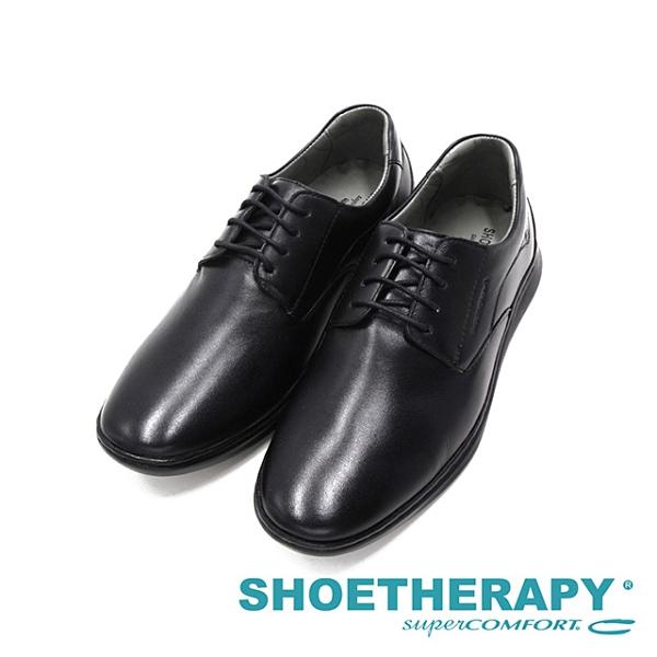 SAPATOTERAPIA巴西低調logo圓頭紳士鞋 男鞋 -黑(另有深咖)