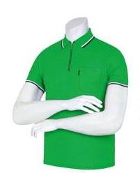 (尺碼:短袖M|顏色:綠色)彩虹拉鍊領子T恤(10 colors)團體T恤團體服男士領子T恤男士