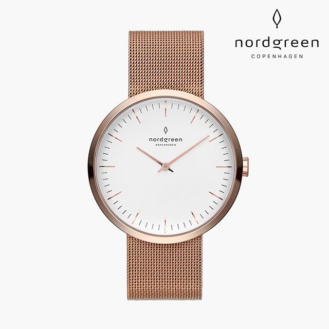 【Nordgreen】Infinity 無限 玫瑰金系列 玫瑰金 鈦鋼米蘭錶帶手錶 32mm